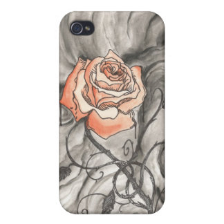 Mystical Rose In Darkness Case For iPhone 4