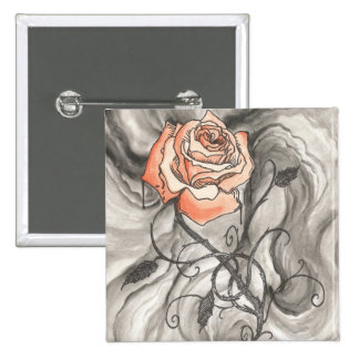 Mystical Rose In Darkness Pinback Button