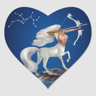 Mystical Sagittarius Heart Sticker