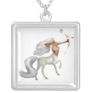 Mystical Sagittarius Square Pendant Necklace