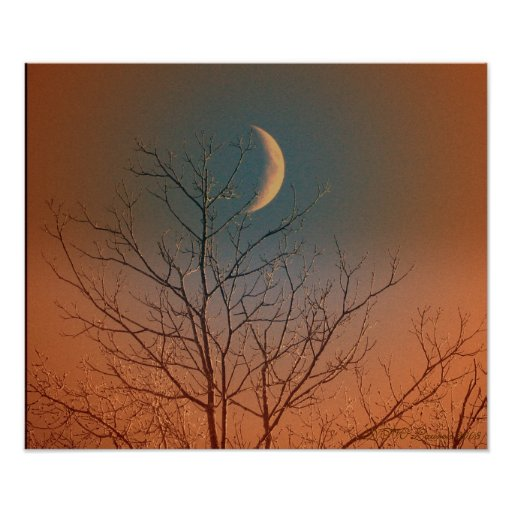 Mystical Smiling Moon Print