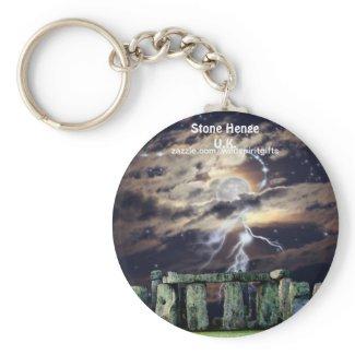 Mystical STONE HENGE England U.K. Keychain zazzle_keychain