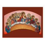 Mystical Supper Prayer Card Postcard