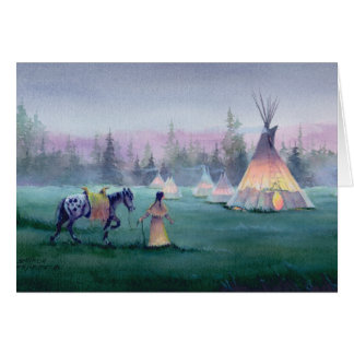 MYSTICAL TIPI by SHARON SHARPE Card