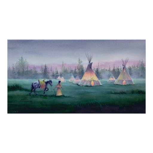 MYSTICAL TIPI by SHARON SHARPE Poster