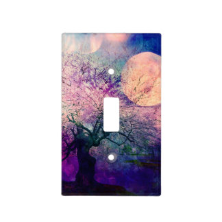 Mystical Tree and Night Moon Light Switch Plate