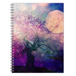 Mystical Tree and Night Moon Notebook