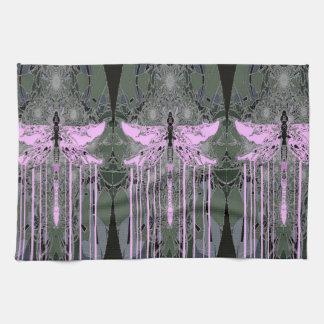 Mystical Violet Dragonflies by Sharles Kitchen Towel