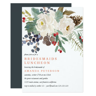 Mystical Winter | Bridesmaids Luncheon Wedding Invitation