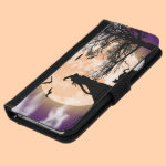 Mystical Witch and Cat Full Moon iPhone 6/6s Wallet Case