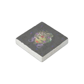 Mystical Witchy Woman Stone Magnet