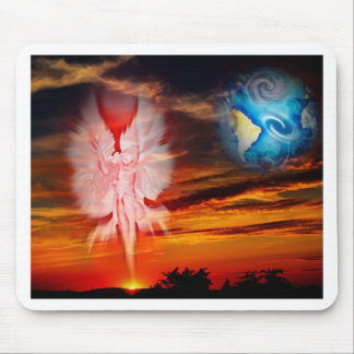 Mystical world, heavenly apparition mouse pad
