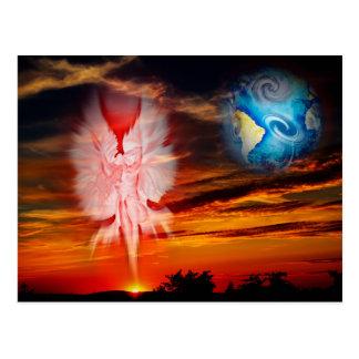 Mystical world, heavenly apparition postcard