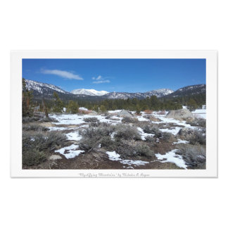 """Mystifying Mountains,"" Sierra Nevada Nature Photo Print"