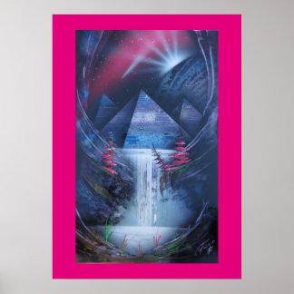 Mystikal una impresión de la cascada póster