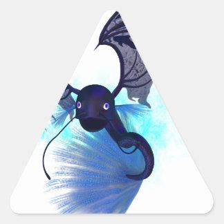 Mystikoi_black.png Pegatina Triangular