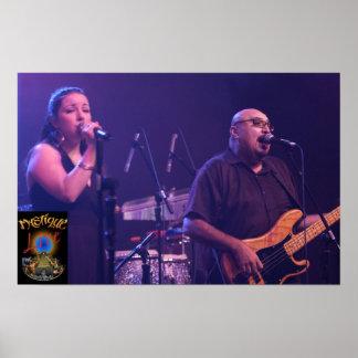 Mystique Bandmembers Edward and Cassandra Live Posters