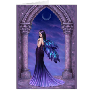 Mystique Elegant Dark Gothic Fairy Card