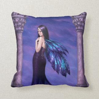 Mystique Elegant Gothic Fairy Pillow Purple & Blue