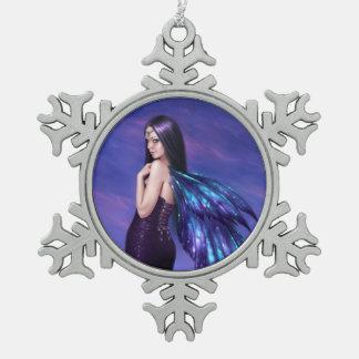 Mystique Galaxy Wing Fairy Snowflake Ornament