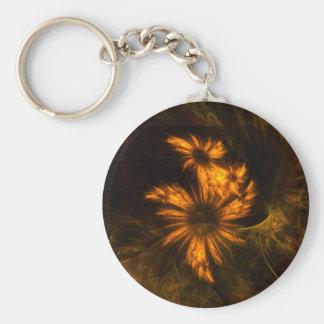 Mystique Garden Abstract Art Keychain