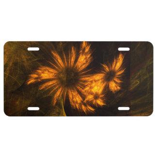 Mystique Garden Abstract Art License Plate