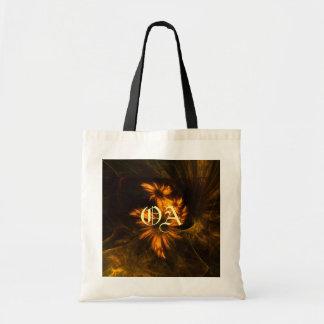 Mystique Garden Abstract Art Monogram Bag