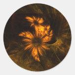 Mystique Garden Abstract Art Round Sticker