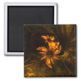 Mystique Garden Abstract Art Square Magnet