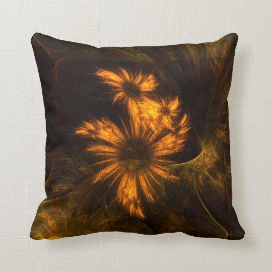 Mystique Garden Abstract Art Throw Pillow