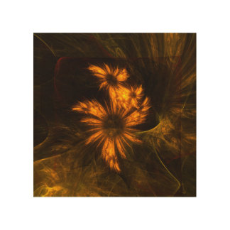Mystique Garden Abstract Art Wood Print