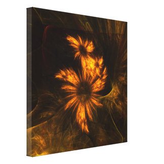 Mystique Garden Abstract Art Wrapped Canvas Print