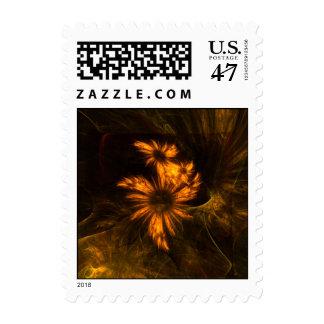 Mystique Garden Abstract Postage Stamp