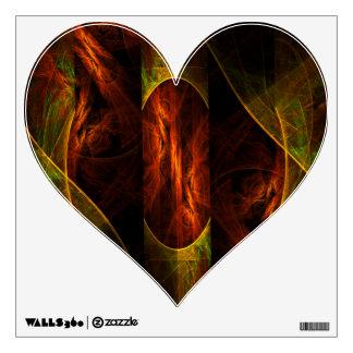 Mystique Jungle Abstract Art Heart Wall Sticker