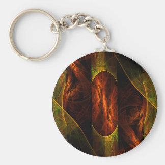 Mystique Jungle Abstract Art Keychain