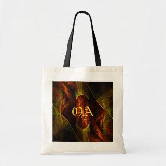 Mystique Jungle Abstract Art Monogram Bag