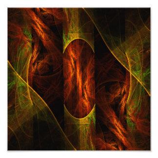 Mystique Jungle Abstract Art Photo Print