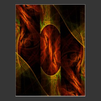 Mystique Jungle Abstract Art Postcard
