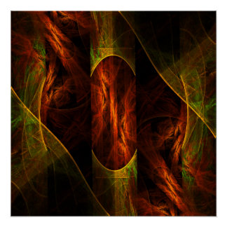 Mystique Jungle Abstract Art Poster