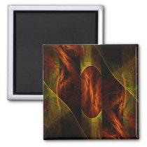 abstract, art, decorative, fine art, modern, square, magnet, Ímã com design gráfico personalizado