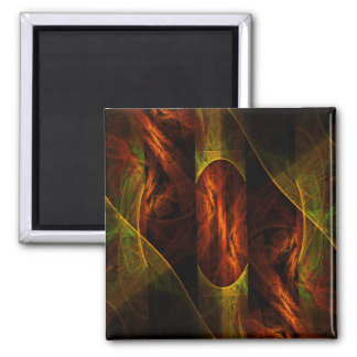 Mystique Jungle Abstract Art Square Magnet