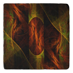 Mystique Jungle Abstract Art Stone Trivet