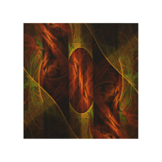 Mystique Jungle Abstract Art Wood Print