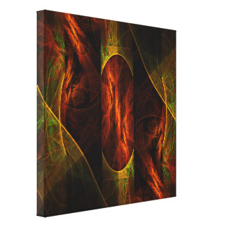 Mystique Jungle Abstract Art Wrapped Canvas Print