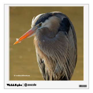 Mystique of the Great Blue Heron Wall Sticker