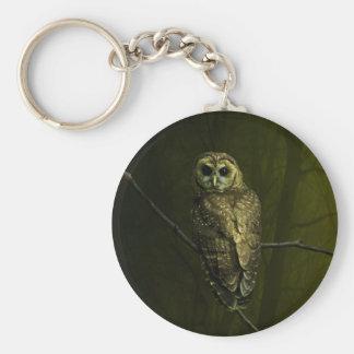 Mystique Owl Basic Round Button Keychain
