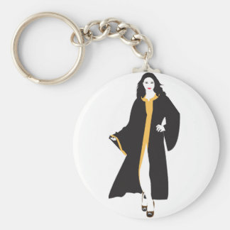Mystique White Woman Basic Round Button Keychain
