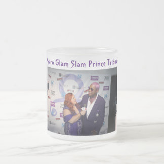 Mystro Glam Slam Prince Tribute 2016 Frosted Glass Coffee Mug