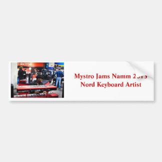 Mystro Jams Namm 2013 Commemorative Bumper Sticker Car Bumper Sticker