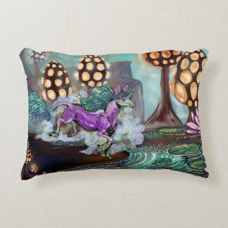 Mysts of the Glowshrooms Accent Pillow